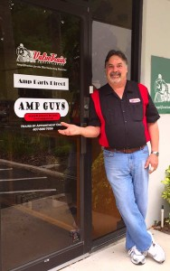 Amp Guys founder and Jefe: Rick Gessner at the front door